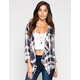 LIVING DOLL Plaid Womens Wrap