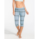 FULL TILT SPORT Boho Print Womens Capri Leggings