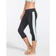 FULL TILT SPORT Inset Stripe Womens Capri Leggings