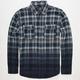 BLUE CROWN Mens Dip Dye Flannel Shirt