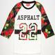 ASPHALT YACHT CLUB Varsity Floral Camo Mens Baseball Tee