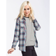FULL TILT Plaid Womens Boyfriend Shirt
