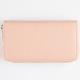 Solid Zip Around Wallet