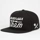 US VERSUS THEM Magnum Glow Mens Snapback Hat