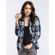 POLLY & ESTHER Carter Womens Flannel Shirt
