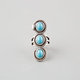FULL TILT 3 Stone Turquoise Knuckle Ring