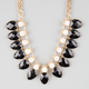 FULL TILT Facet Stone Teardrop Statement Necklace