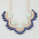 FULL TILT Daisy Scallop Fringe Necklace