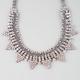 FULL TILT Rhinestone/Chain/Triangle Statement Necklace