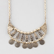 FULL TILT Ethnic Disc Bib Necklace