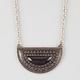 FULL TILT Jet Stone Crescent Necklace