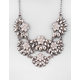 FULL TILT Scalloped Flower Statement Necklace