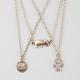 FULL TILT 3 Piece Love/Elephant/Hamsa Necklaces