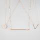 FULL TILT 3 Piece Circle/Bar/V Necklaces