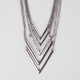 FULL TILT 5 Piece Chevron Necklace