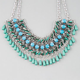 FULL TILT Cord/Rhinestone Statement Necklace