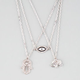 FULL TILT 3 Piece Eye/Hamsa Hand/Elephant Necklaces