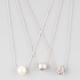 FULL TILT 3 Piece Diamond Dust/Fireball/Pearl Necklaces
