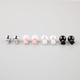 FULL TILT 4 Pair Front/Back Ball Earrings