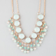 FULL TILT Circle Bead Drop Statement Necklace