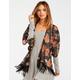 LOTTIE & HOLLY Floral Womens Fringe Kimono