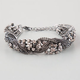 FULL TILT Chain/Rhinestone Braid Bracelet