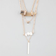 FULL TILT 3 Row Horn Necklace