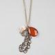 FULL TILT Amber/Leaf Charm Necklace
