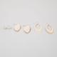 FULL TILT 3 Pairs Bead/Teardrop/Leaf Earrings