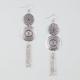 FULL TILT Double Disc Fringe Earrings