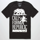 RIOT SOCIETY Tropical Cali Stars Mens T-Shirt