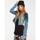 ALMOST FAMOUS Womens Knit Denim Jacket