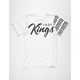 LAST KINGS Checked Boys T-Shirt