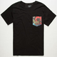 LOST Happy Daze Mens Pocket Tee