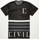 CIVIL Regime Mens Mesh Jersey Tee
