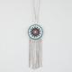 FULL TILT Turquoise Medallion Fringe Necklace