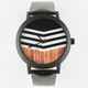 Chevron Wood Print Watch