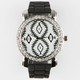 Tribal Face Rhinestone Watch