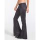 FULL TILT Womens Faux Suede Flare Pants