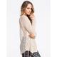 FULL TILT Marled Crochet Back Womens Sweater