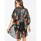 FULL TILT Lace Back Womens Kimono