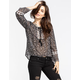 FULL TILT Paisley Print Womens Peasant Top