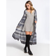 FULL TILT Ethnic Womens Hooded Duster Cardigan