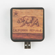 Wood Cali Bear Portable Battery Pack