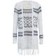FULL TILT Diamond Stripe Girls Wrap Sweater