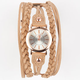 FORTUNE NYC Faux Leather Wrap Band Watch