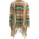FULL TILT Bright Pop Girls Fringe Hooded Wrap Sweater