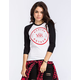 YOUNG & RECKLESS No Slippage Womens Baseball Tee