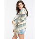 FULL TILT Southwest Womens Hooded Wrap Sweater