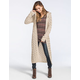 FULL TILT Open Stitch Womens Hooded Duster Cardigan
